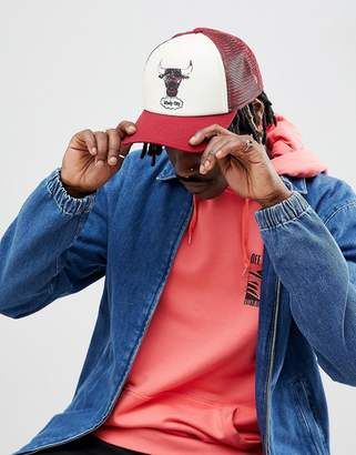 at ASOS Mitchell   Ness Distressed Trucker Cap Chicago Bulls Exclusive to  ASOS 06514ca8c0d