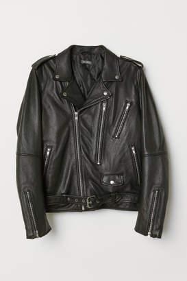 H&M Leather Biker Jacket - Black