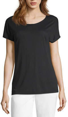 WORTHINGTON Worthington Dolman Step Hem Tee - Tall
