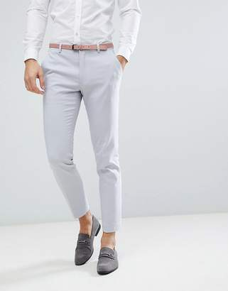 Asos DESIGN Wedding Skinny Suit PANTS In Ice Gray