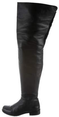 Stuart Weitzman Leather Over-The-Knee Boots
