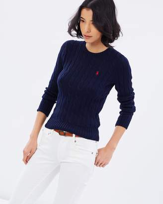 Polo Ralph Lauren Julianna Cotton Cable Crew-Neck Sweater