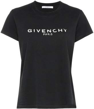 Givenchy logo motif print cotton short sleeve t shirt
