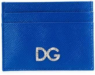 Dolce & Gabbana rhinestone logo card holder
