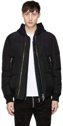 DSQUARED2 Black Down Baseball Puffer Jacket