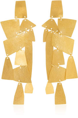 Annie Costello Brown Mika XL 18K Gold-Plated Earrings