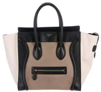 Céline Tricolor Mini Luggage Tote