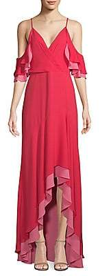 BCBGMAXAZRIA Women's High-Low Ruffle Gown - Size 0