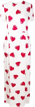 Moschino Pre-Owned 2000's heart pattern maxi dress