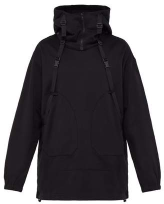 Y-3 Y 3 Parachute Cotton Hooded Sweatshirt - Mens - Black