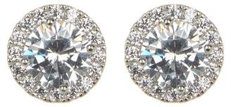 Nordstrom Rack Prong & Halo Set Faceted Round CZ Stud Earrings
