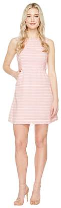 Jessica Simpson Stripped Tweed Fit and Flare Dress Women's Dress