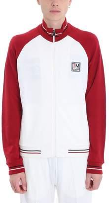 Ermenegildo Zegna White/red Cotton Sweatshirt