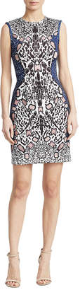 Y-yigal YYIGAL Yigal Azrouel Abstract Cheetah Dress