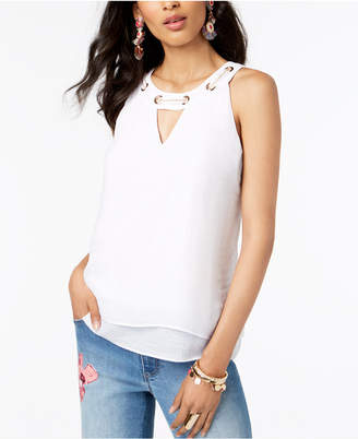 Thalia Sodi Chain-Neck Layered-Hem Top, Created for Macy's