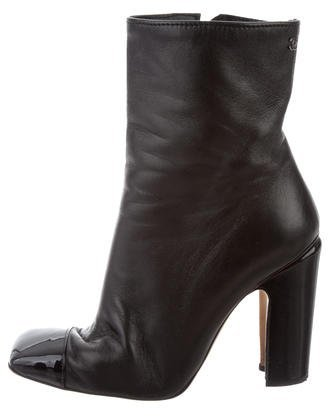 Chanel CC Cap-Toe Ankle Boots