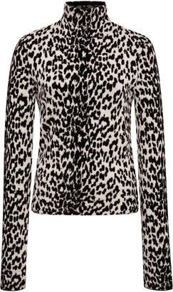 Givenchy Leopard-Print Wool-Blend Turtleneck Sweater