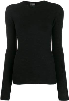 Emporio Armani long-sleeve fitted top