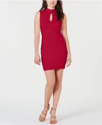 GUESS Janessa Keyhole Mock-Neck Dress