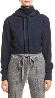 Twenty Maddux Hooded Turtleneck Jersey Sweatshirt, Dark Blue