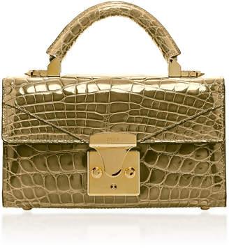 Stalvey 24K Gold Crocodile Mini Top Handle 2.0 Bag