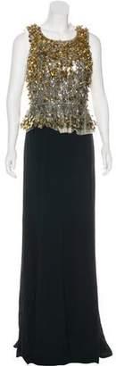 Jenny Packham Embellished Sleeveless Dress