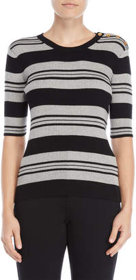 philosophy Stripe Half Sleeve Sweater