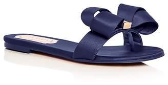 Ted Baker Women's Beauita Satin Bow Slide Sandals
