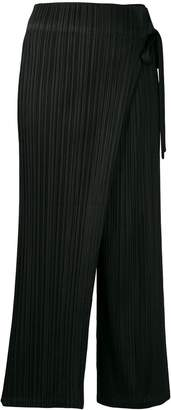 Pleats Please Issey Miyake draped pleated trousers
