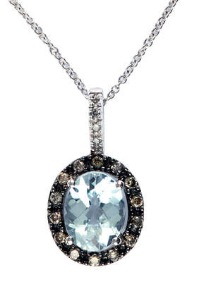 Effy Fine Jewelry 14K 1.95 Ct. Tw. Diamond & Aquamarine Necklace