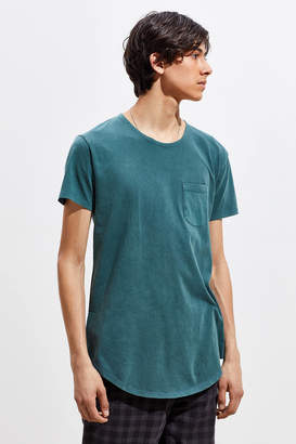 Urban Outfitters Acid Wash Scoop Neck Curved Grey Hem Tee