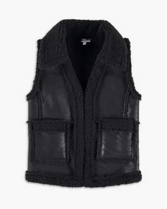 Splendid Girl Faux Leather Vest