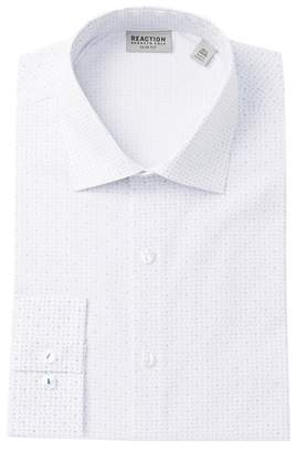 Kenneth Cole Reaction Allover Pattern Regular Fit Dress Shirt