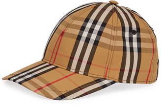4d7fea5fe06 Burberry Vintage Check Unisex Baseball Cap