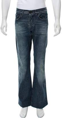 Just Cavalli Distressed Bootcut Jeans