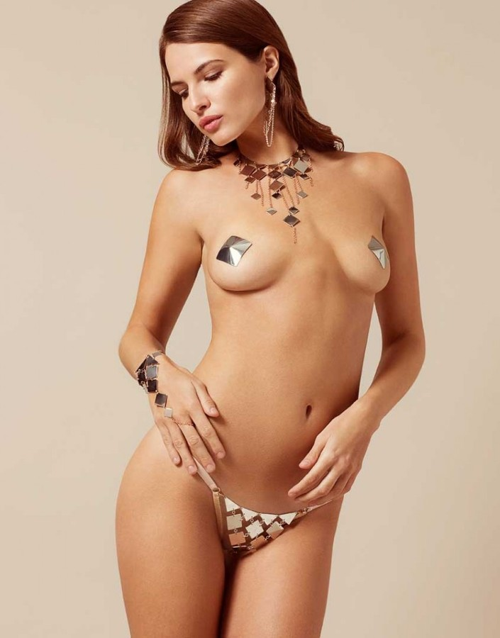 Agent Provocateur Adora Thong Silver And Rose Gold