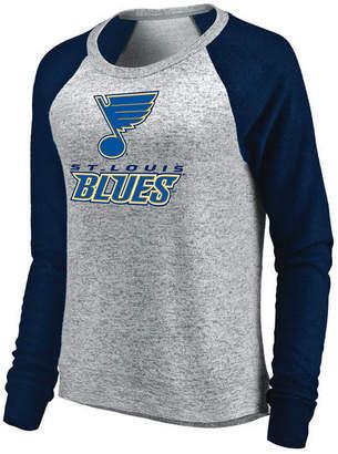 Majestic Women's St. Louis Blues Cozy Crew Long Sleeve T-Shirt