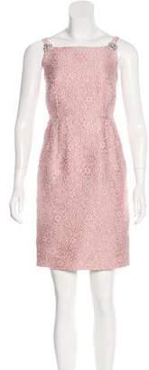 Dolce & Gabbana Embellished Matelassé Dress