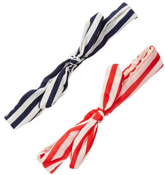 FINEST ACCESSORIES Sailor Stripe Knot Headwrap - Pack of 2 $14.97 thestylecure.com