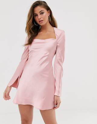 C/Meo Collective polarised long sleeve mini dress