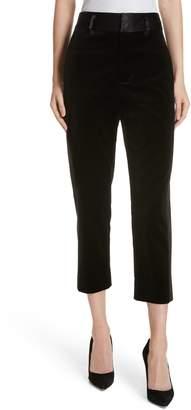Frame Velvet Crop Tuxedo Pants