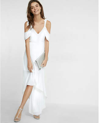 Express cold shoulder maxi dress $88 thestylecure.com