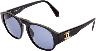 Chanel Black Acrylic Cc Sunglasses