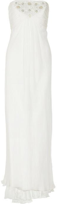 Carmen Marc Valvo Silk-chiffon gown