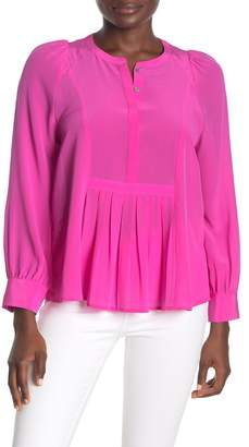 J.Crew J. Crew Silk Pleated Popover Blouse