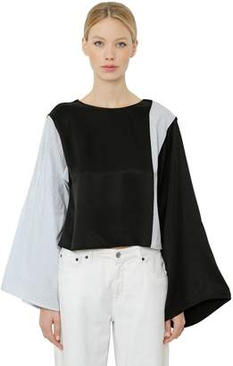 MM6 MAISON MARGIELA Oversize Color Block Cotton Top