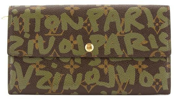 Louis VuittonLouis Vuitton Khaki Monogram Canvas Stephen Sprouse Graffiti Long Bifold Wallet (Pre Owned)