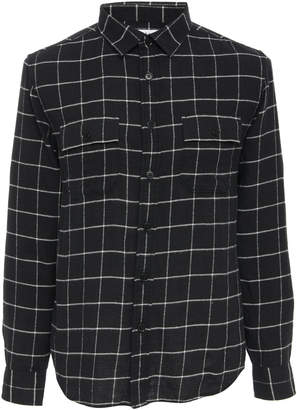 Frame Two-Pocket Checkered Flannel Shirt