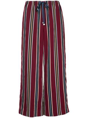 ASTRAET striped cropped trousers
