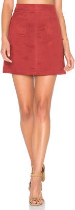 Sanctuary Serina Faux Suede Skirt $79 thestylecure.com